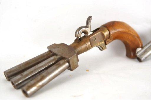 3 Barrel Duck Foot Black Powder Pistol