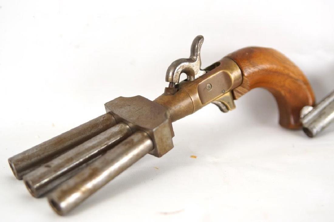 CMC 3 Barrel Duck Foot Black powder pistol