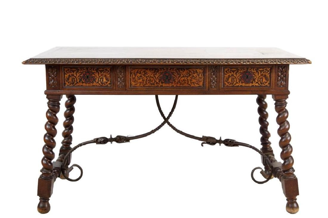 Early 19th c. Spanish inlaid writing desk