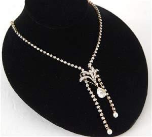 Italian 14kt Gold 7.00 ctw diamond necklace