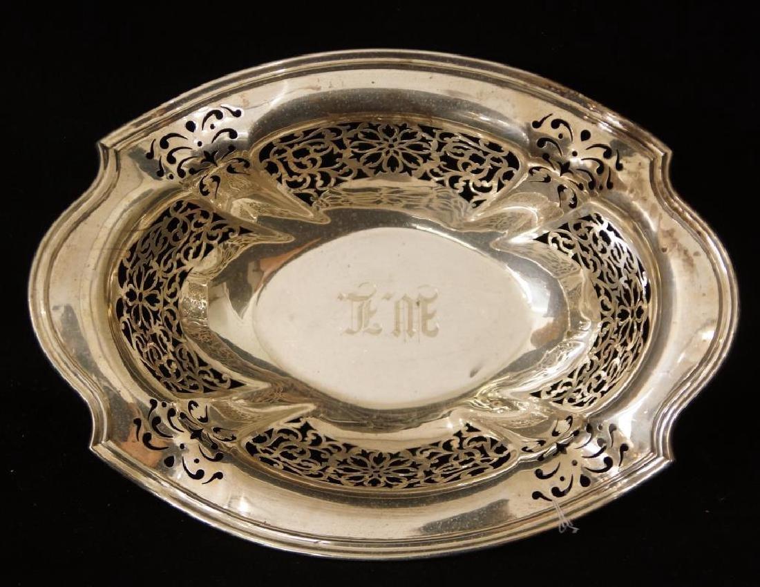 Antique Sterling Pierced oval bowl Hallmarked