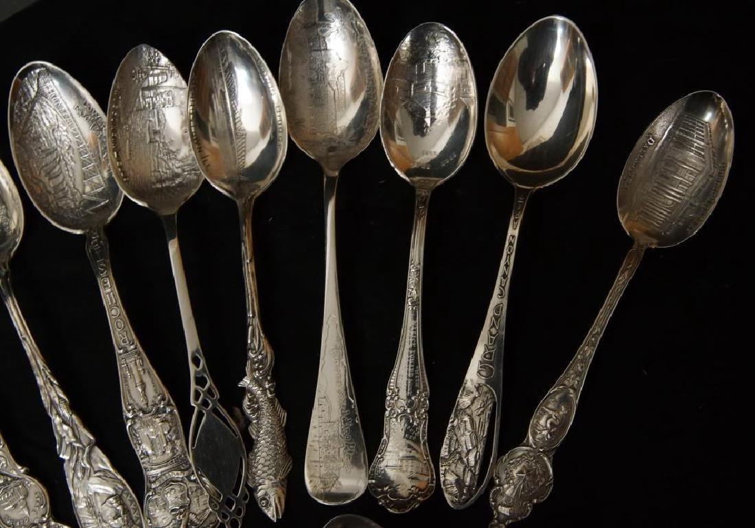 Sterling silver Souvenir spoons - 3