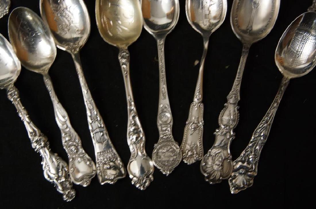 Sterling silver Souvenir spoons - 6
