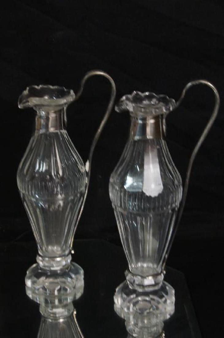 Six Antique Crystal and sterling vessels - 9