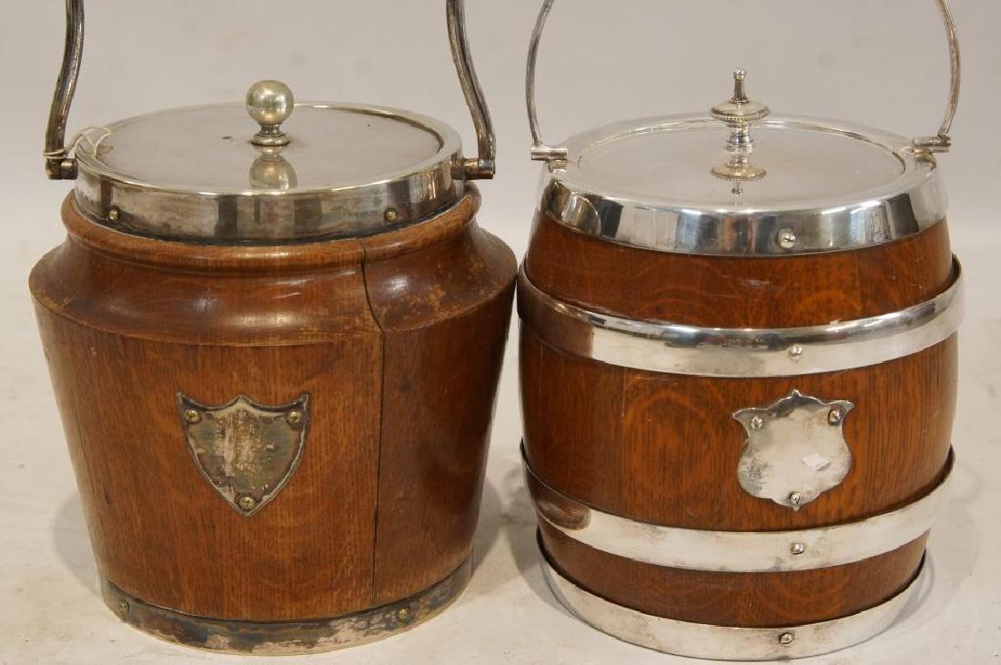 2 Antique Oak Humidors - 2