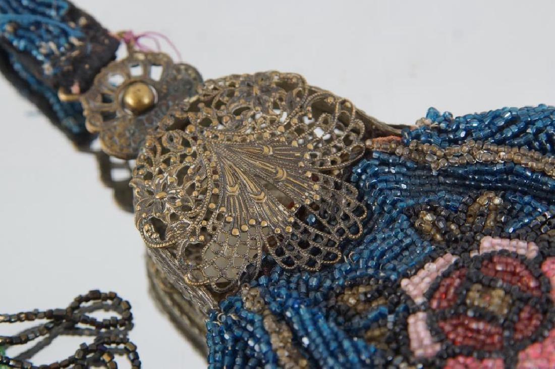 Two Fancy antique beaded purses ca. 1920 - 2