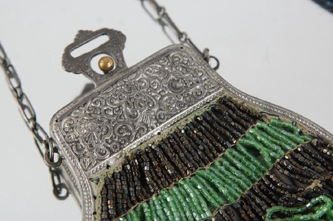 Two Fancy antique beaded purses ca. 1920 - 4