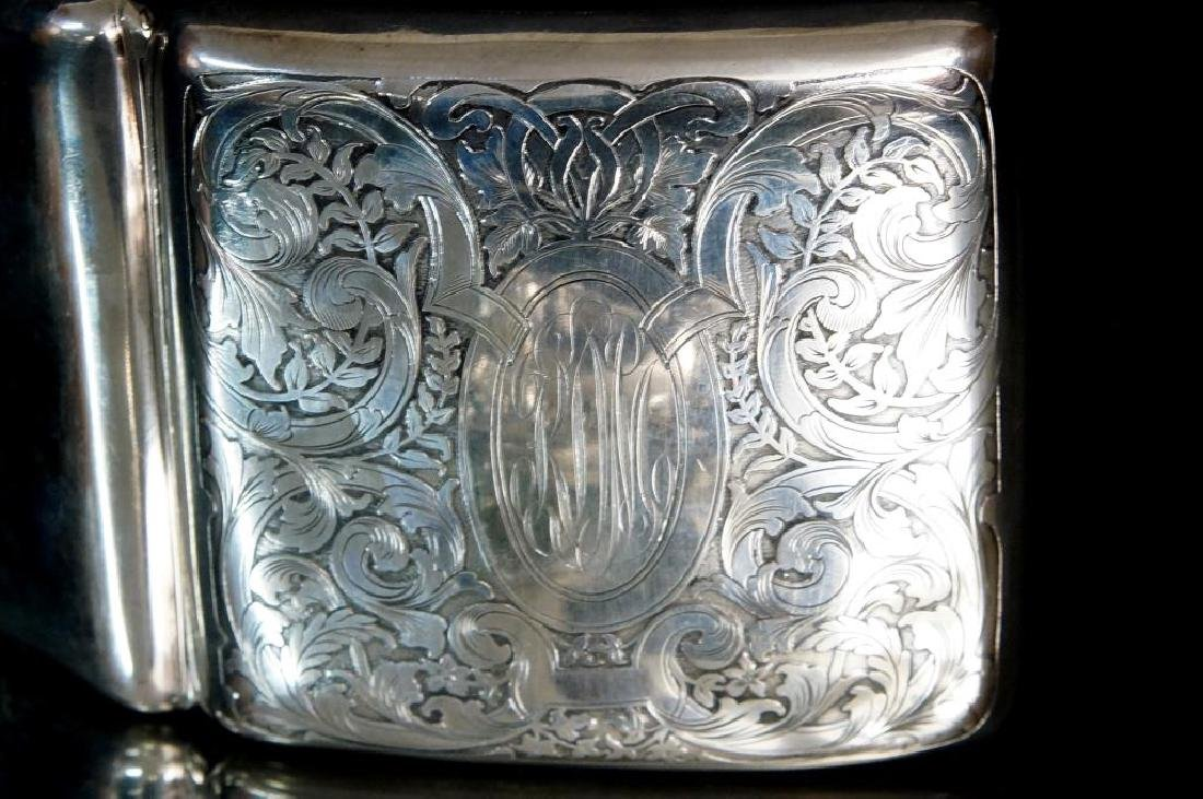 Antique Silver Purses, cigarette & match cases - 10
