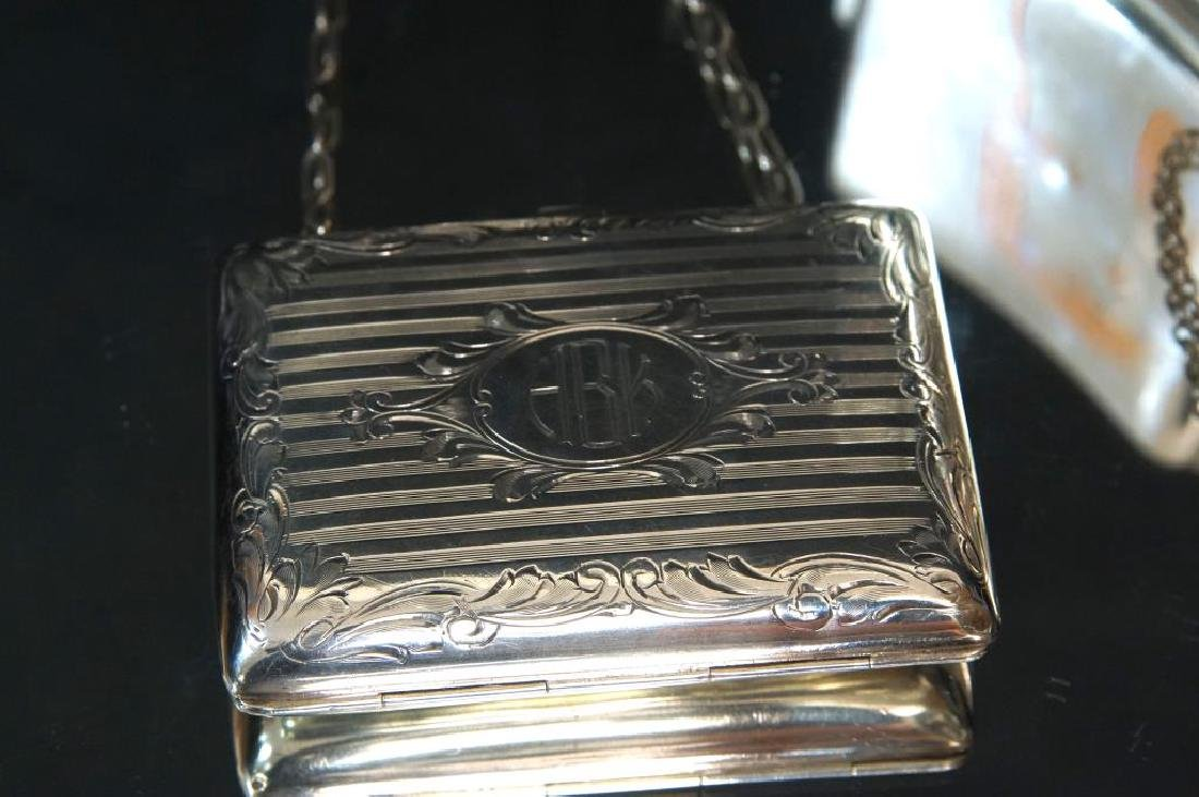 Antique Silver Purses, cigarette & match cases - 2