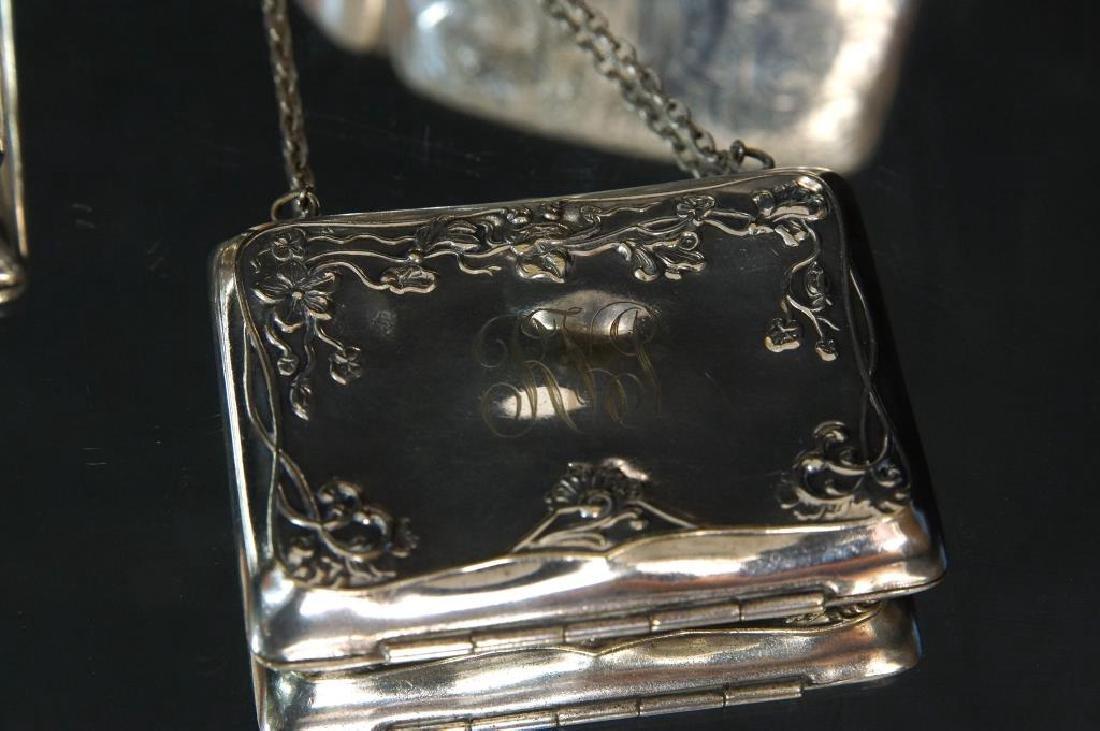 Antique Silver Purses, cigarette & match cases - 3