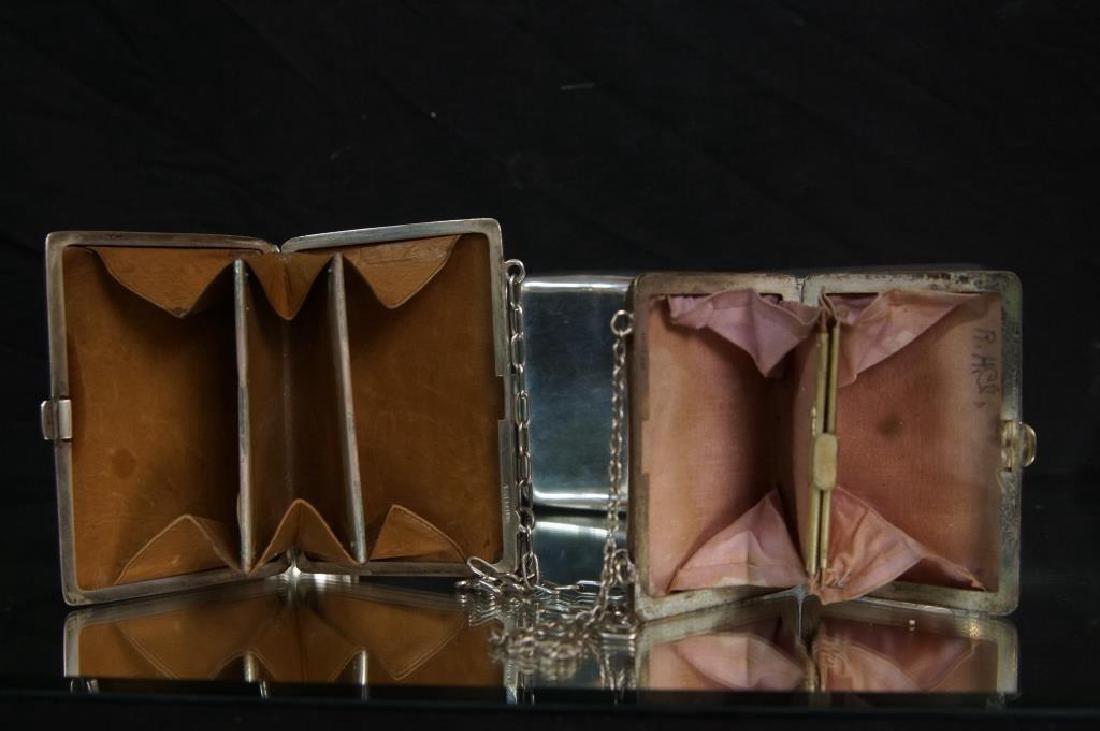 Antique Silver Purses, cigarette & match cases - 4
