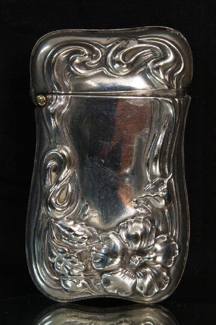 Antique Silver Purses, cigarette & match cases - 9