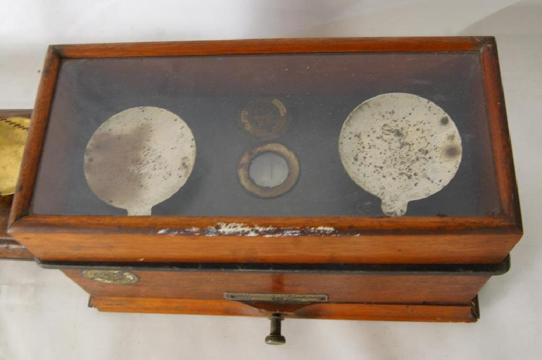 Three small Antique scales - 9