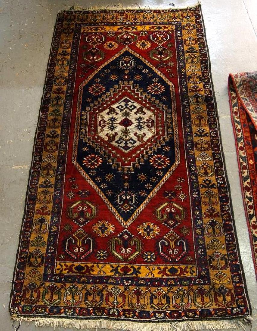 Antique Turkish woven rug