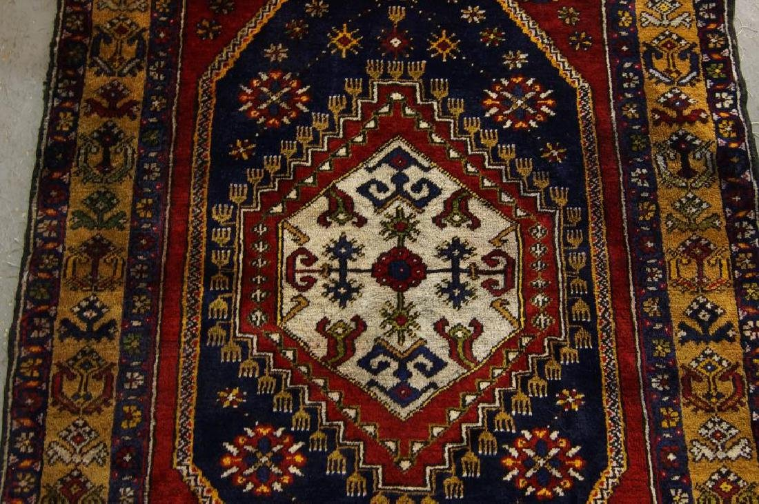 Antique Turkish woven rug - 3
