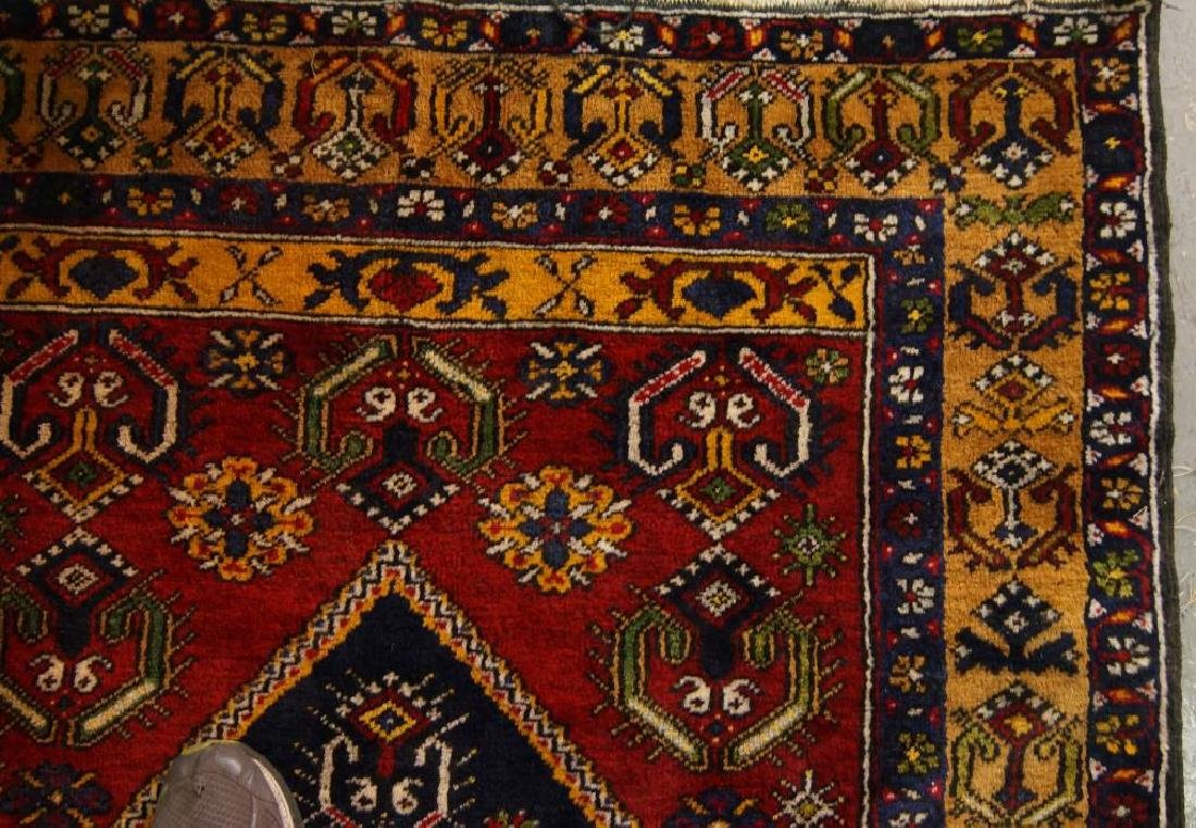 Antique Turkish woven rug - 4