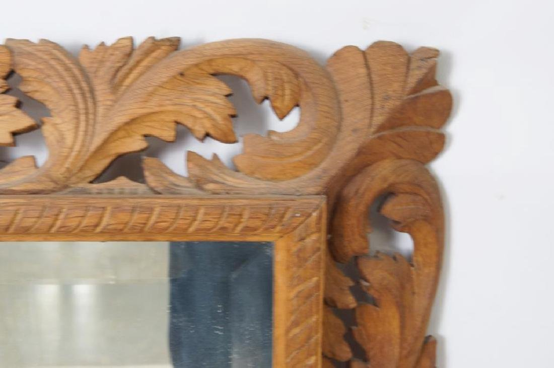 Wood carved beveled mirror - 3