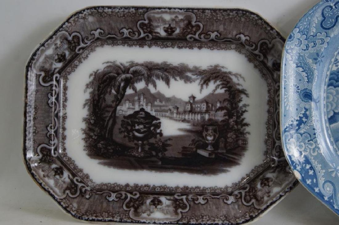 19th cent platters - Adams 1840, ... - 2