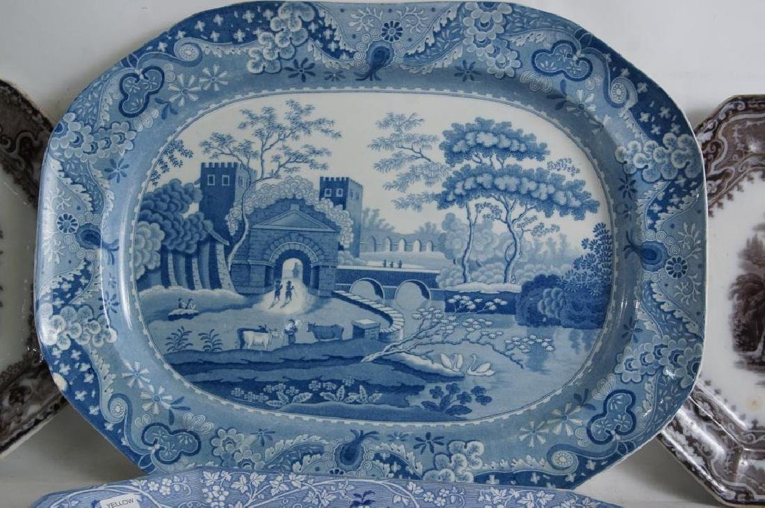 19th cent platters - Adams 1840, ... - 3