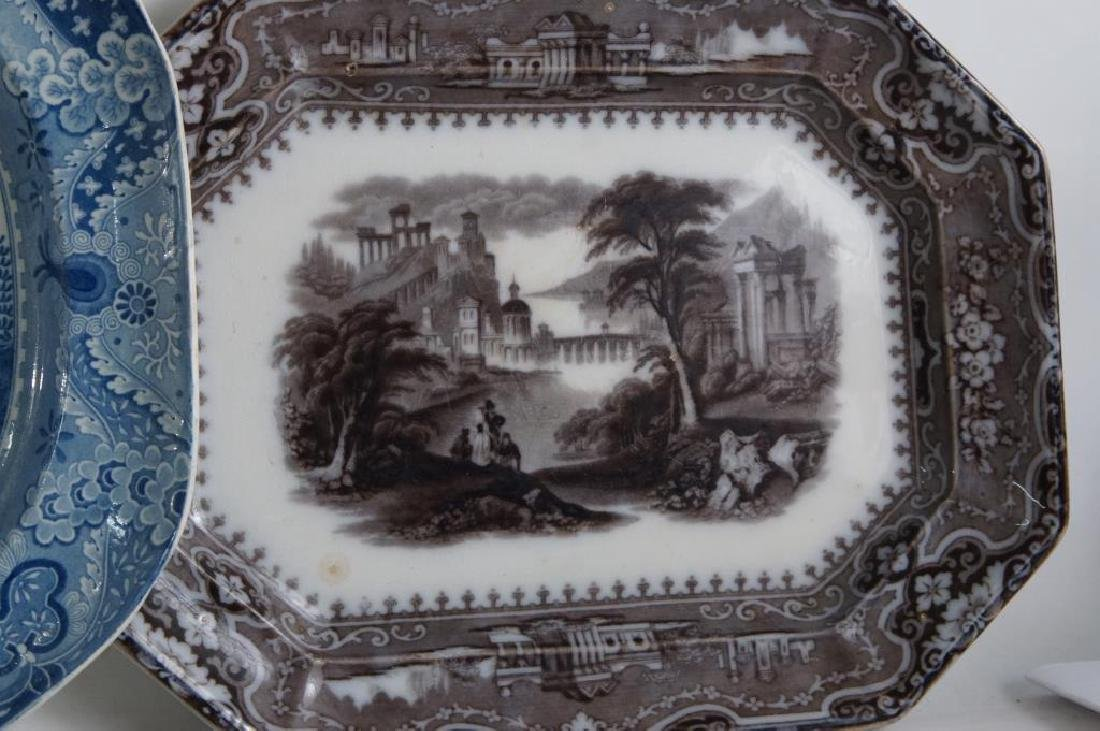 19th cent platters - Adams 1840, ... - 4