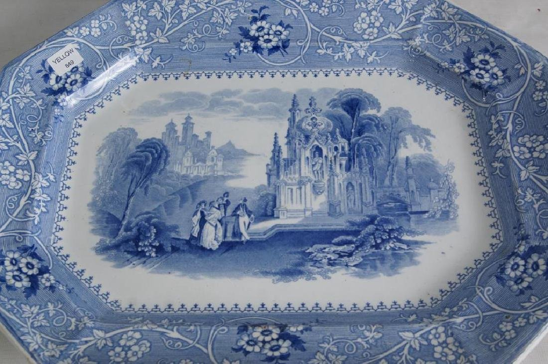 19th cent platters - Adams 1840, ... - 5