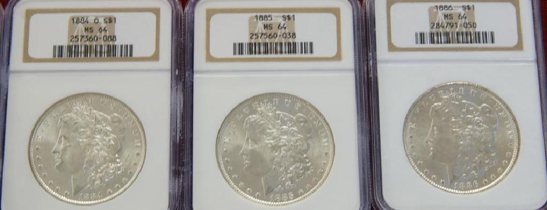 9 Assorted Morgan Silver dollars - 2