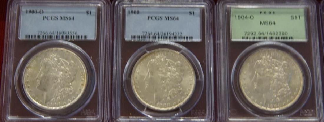 9 Assorted Morgan Silver dollars - 3