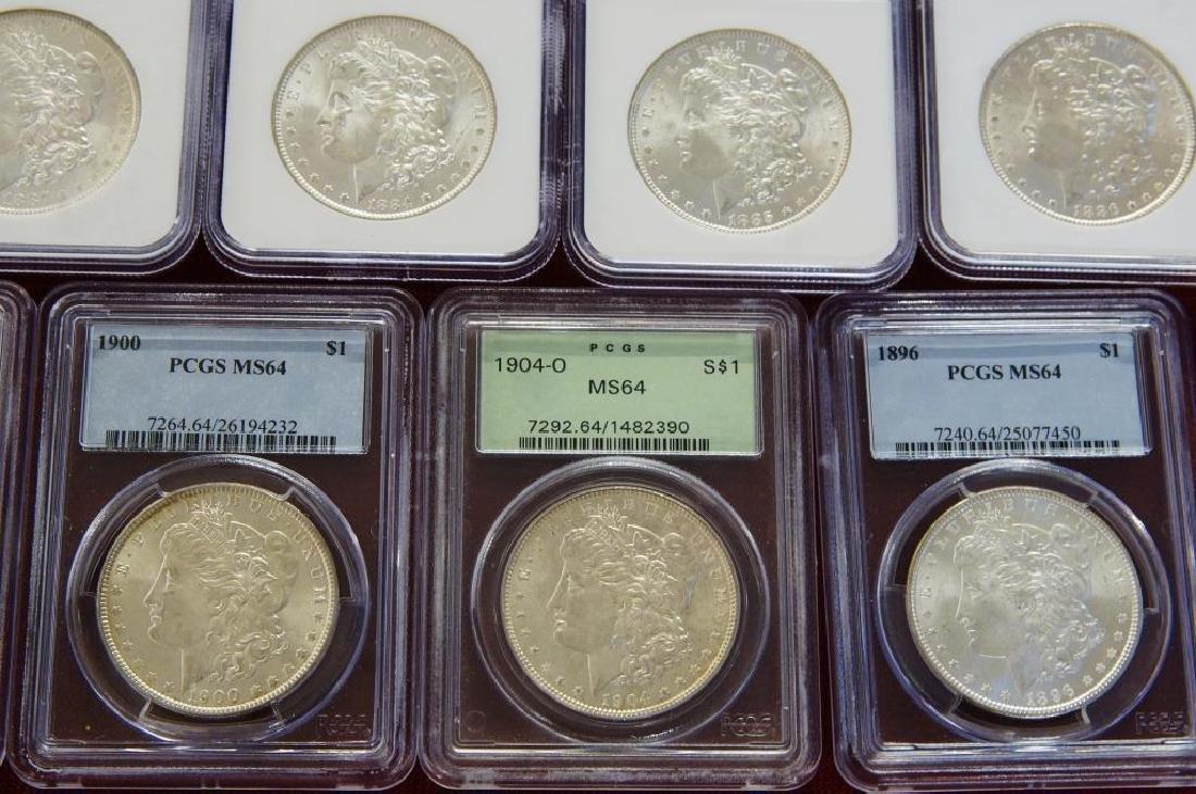 9 Assorted Morgan Silver dollars - 4