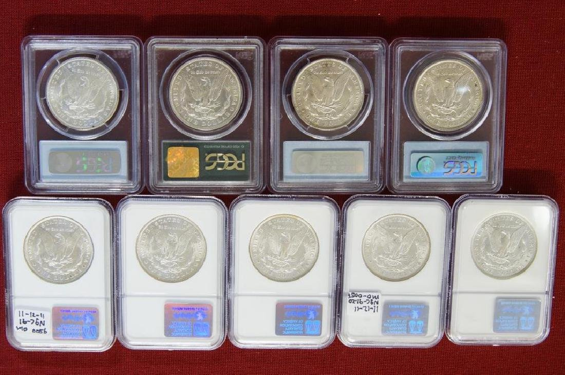9 Assorted Morgan Silver dollars - 5