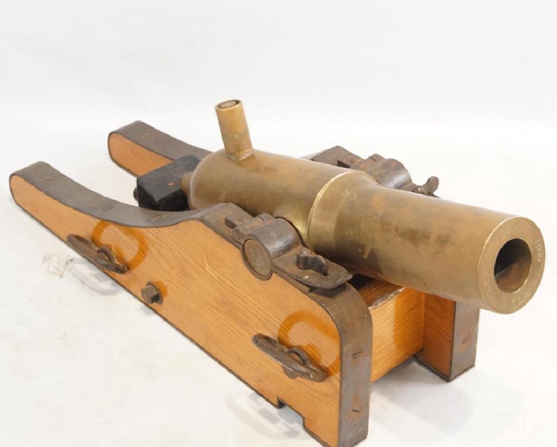 Bronze 1905 Lyle Coast Guard line throwing canon - 2