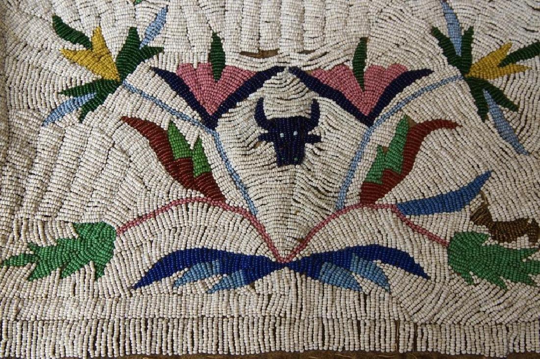 Santee Sioux beaded vest w Deer circa 1890 - 4