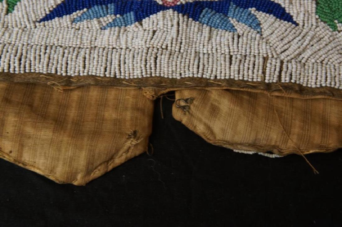 Santee Sioux beaded vest w Deer circa 1890 - 6
