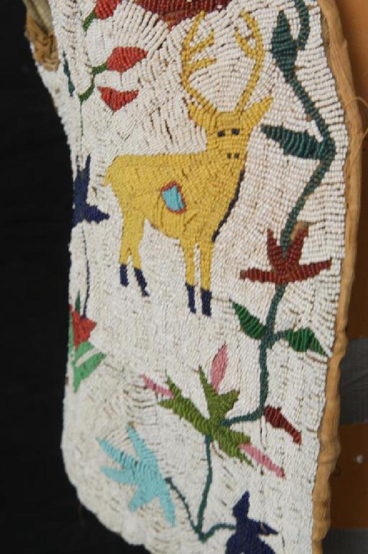 Santee Sioux beaded vest w Deer circa 1890 - 9