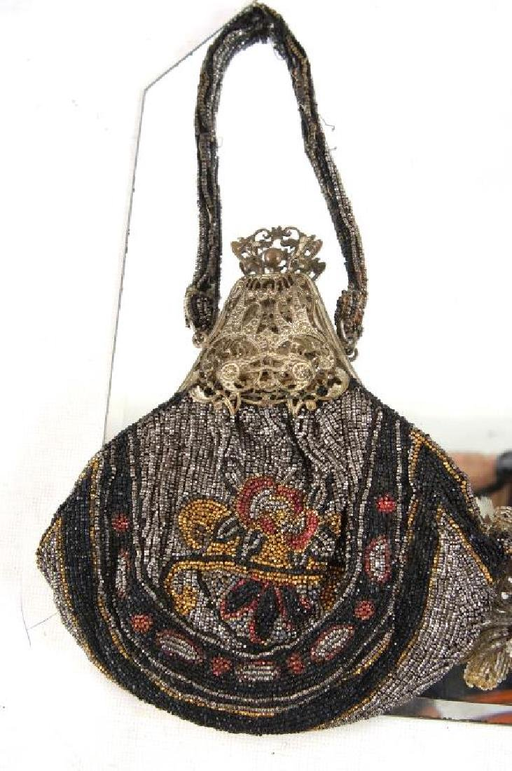 Three Fancy antique beaded purses - 2