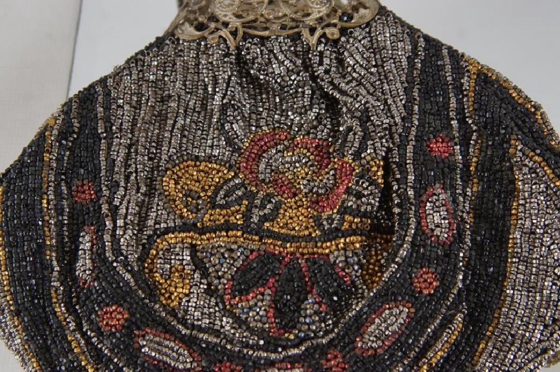 Three Fancy antique beaded purses - 3