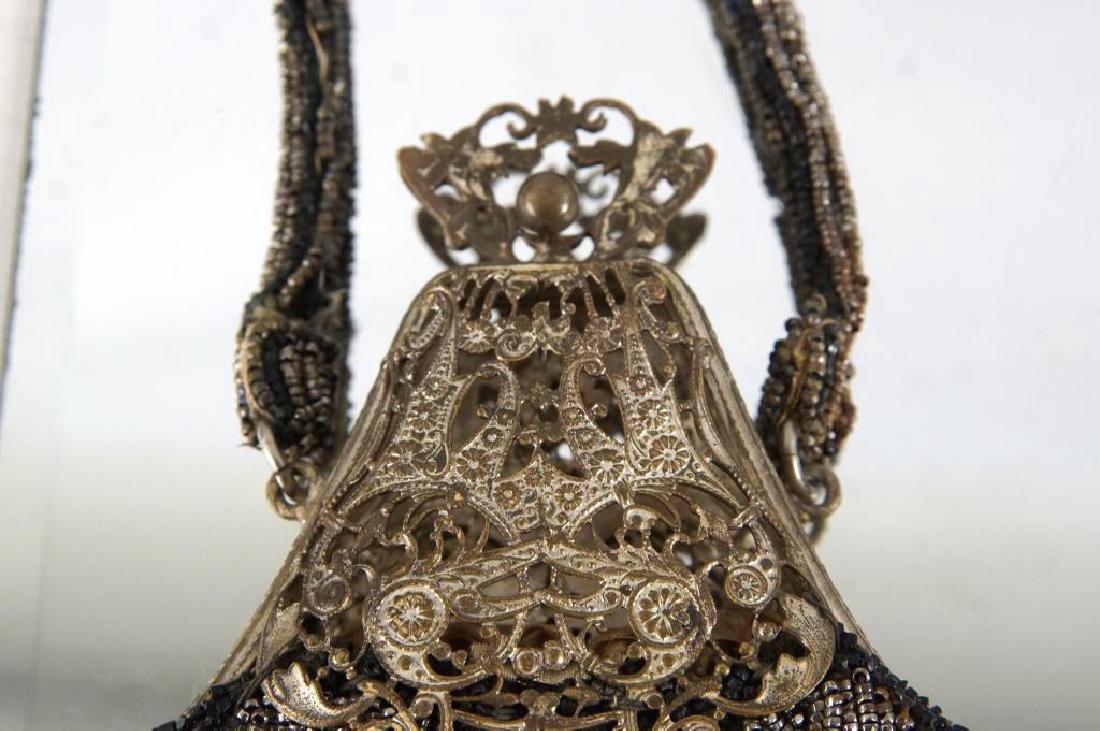 Three Fancy antique beaded purses - 4