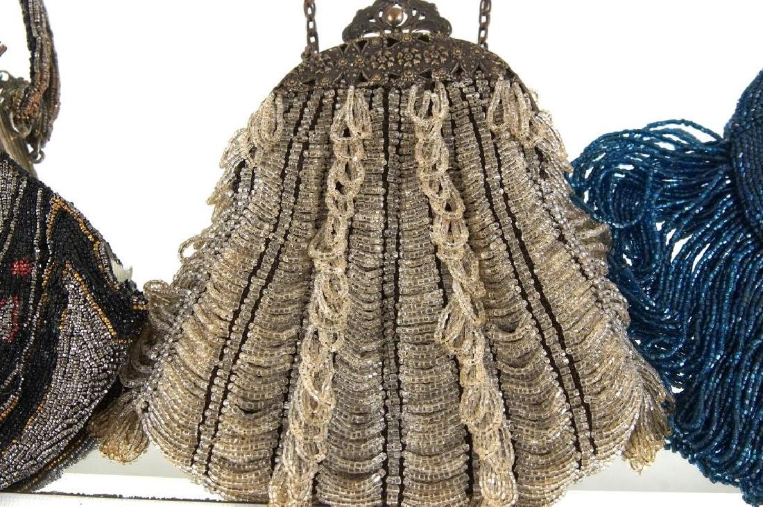 Three Fancy antique beaded purses - 5