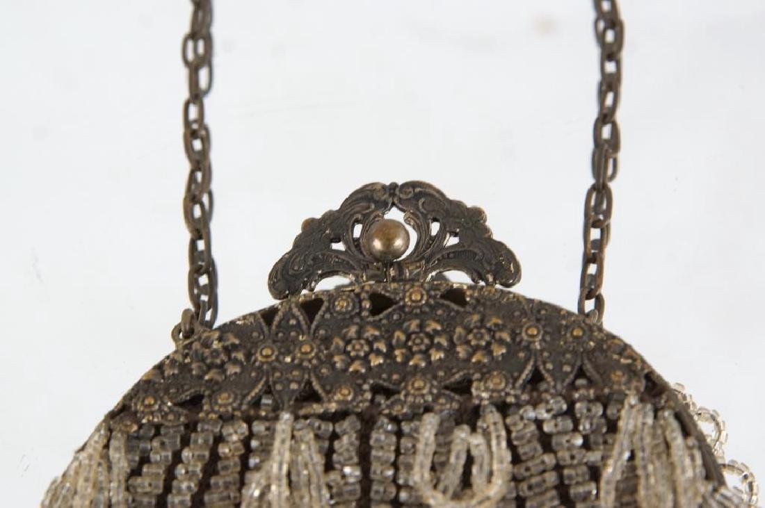 Three Fancy antique beaded purses - 6