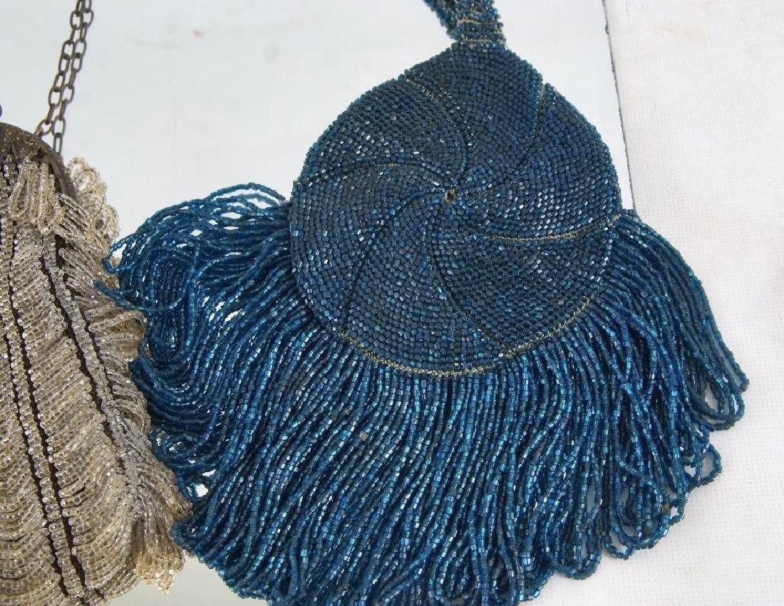 Three Fancy antique beaded purses - 7