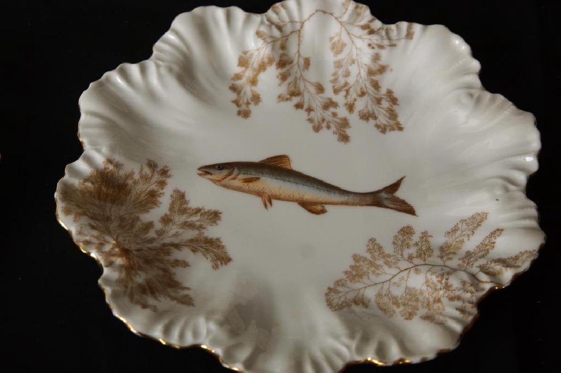 Limoges porcelain fish set - 2