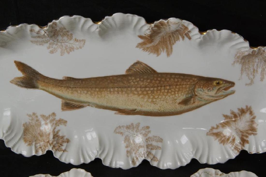 Limoges porcelain fish set - 3
