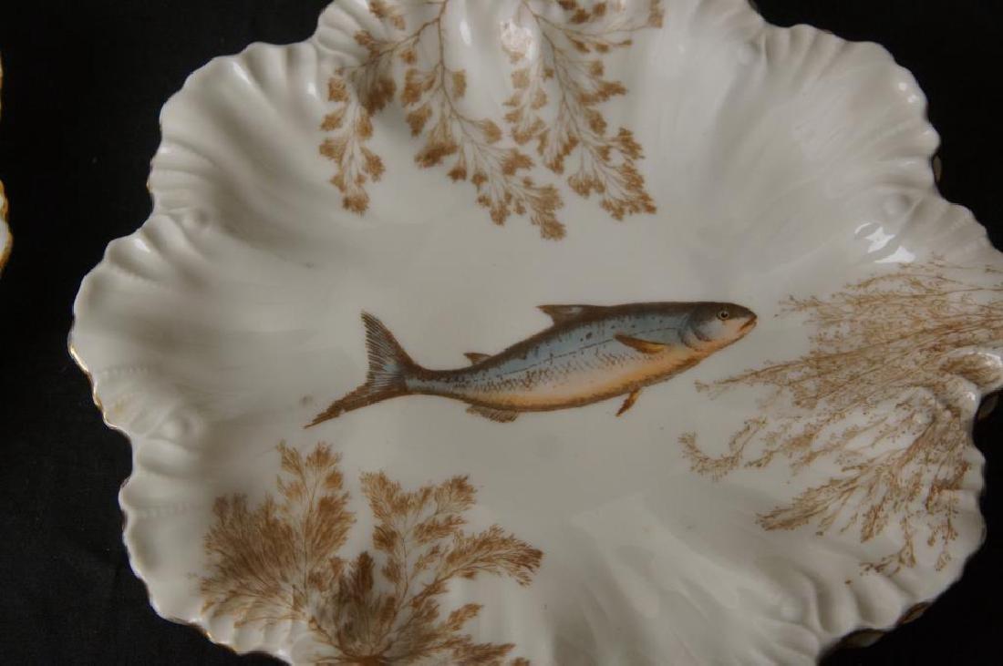 Limoges porcelain fish set - 4