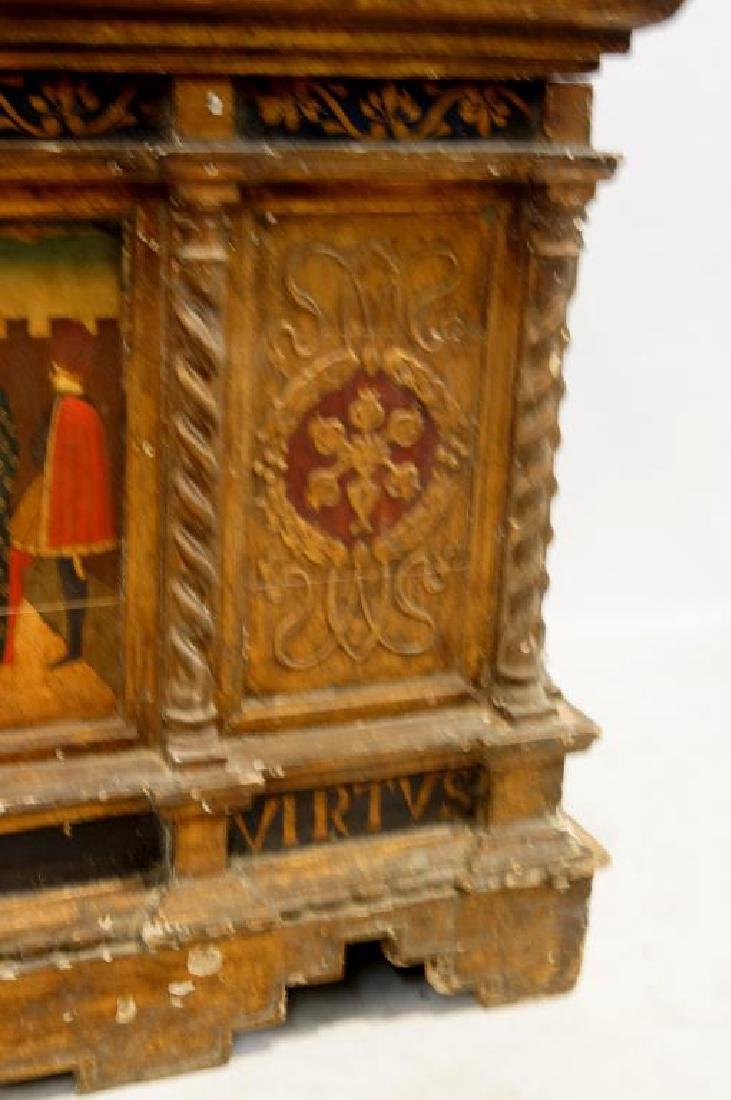 An Antique Gilt painted Italian cassone - 7