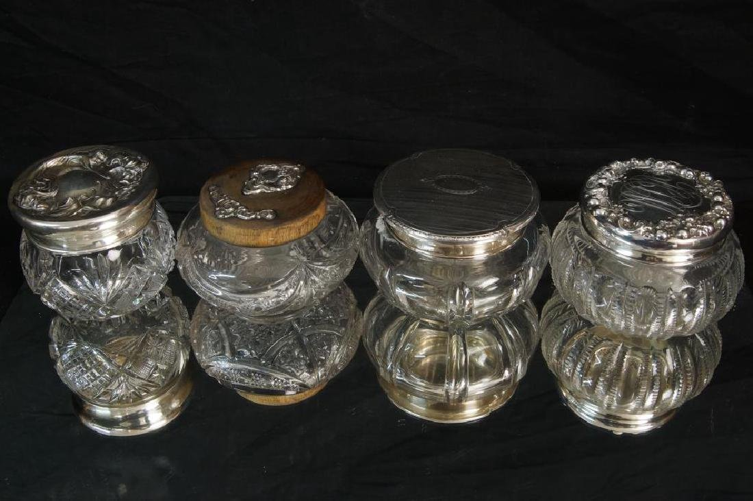 Sterling and crystal glass dresser pcs