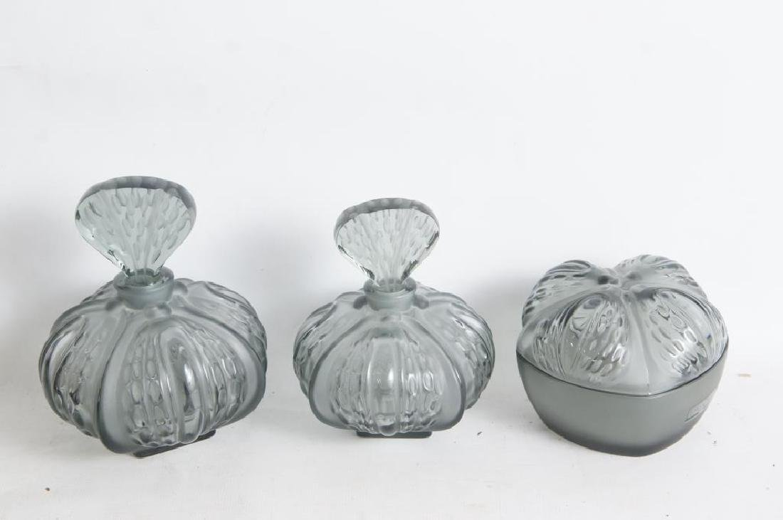 Lalique perfume & dresser set