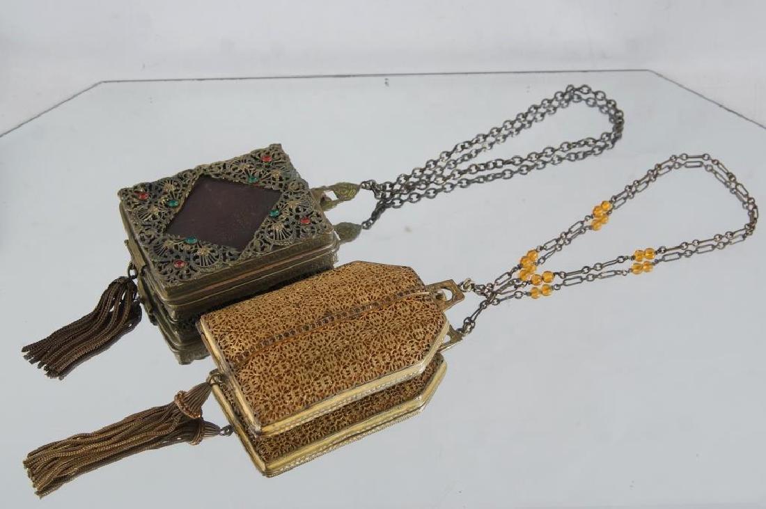 Filigree & jeweled antique purses