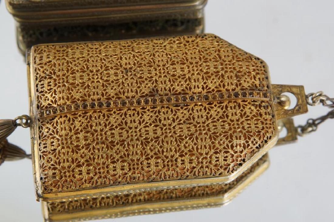 Filigree & jeweled antique purses - 2