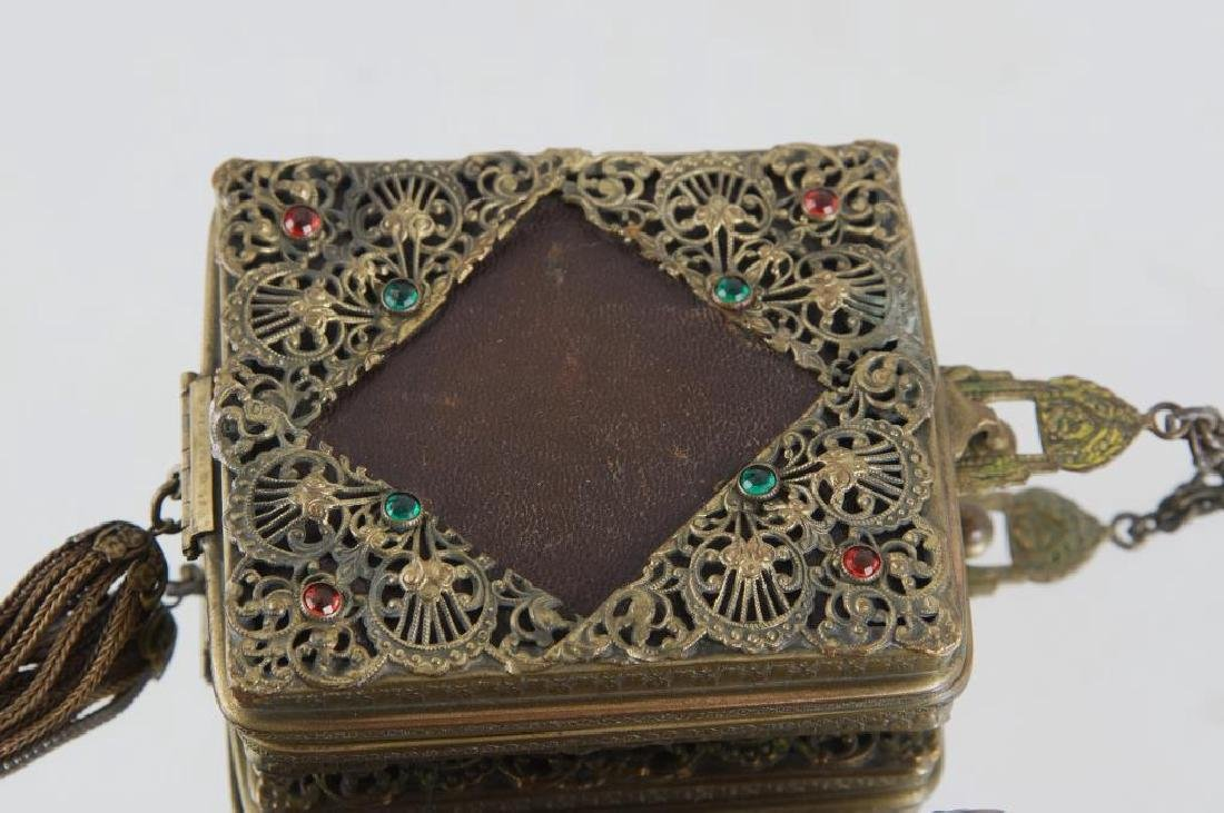 Filigree & jeweled antique purses - 3