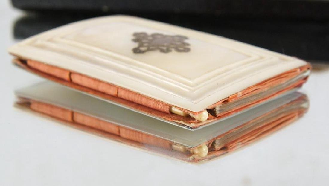 Mother of pearl dance card books & coin purse - 5
