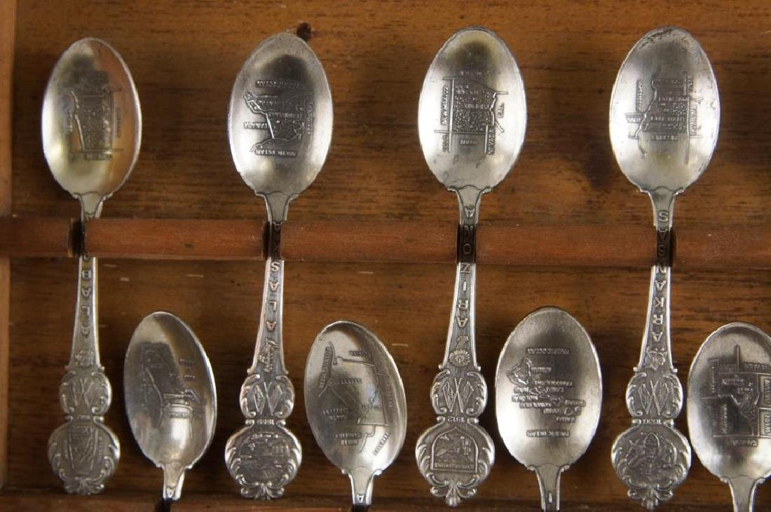 A set of American collectors guild state spoons - 6